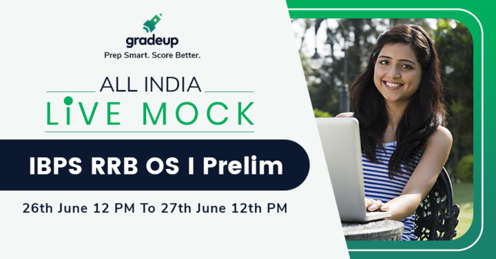 IBPS RRB Officer Scale I Pre All India Free Live Mock 26 June (12 PM) to 27th June (12 PM)