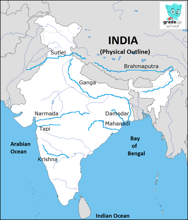 On the outline map of India mark and label the following ...