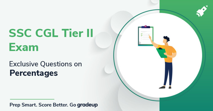 Most Exclusive Questions on Percentages for SSC CGL Tier-II Exam.