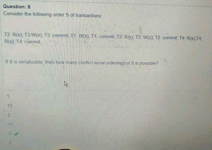 Answer is 8 but How ?