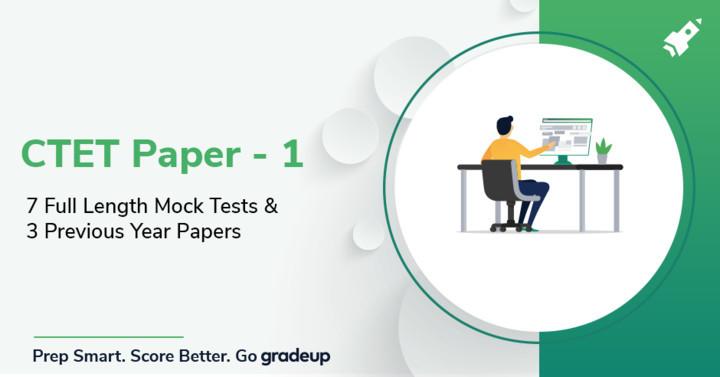 CTET Paper-I Online Test Series, 1 Free Mock