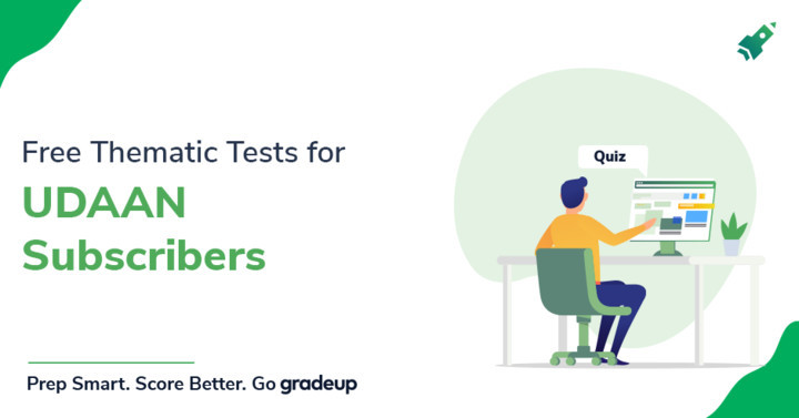 """Get 4 complimentary thematic tests with """"उड़ान UPPSC Prelims Course, Enrol Now"""