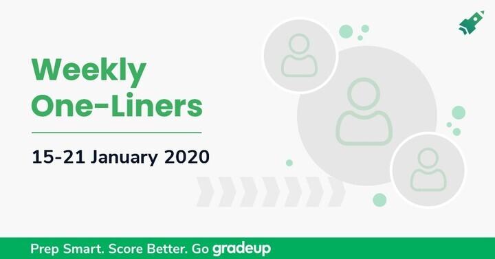 साप्ताहिक वन लाइनर्स अपडेट (15-21) जनवरी 2020: अभी डाउनलोड करें