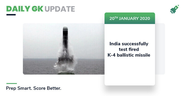 Daily GK Update: 20th January 2020
