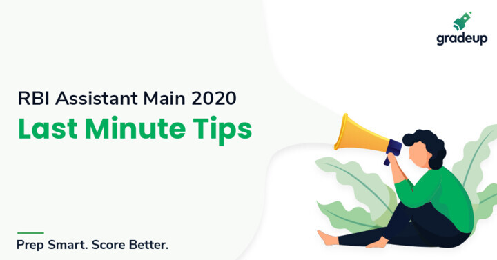 Last-Minute Tips for RBI Assistant Main Exam 2020