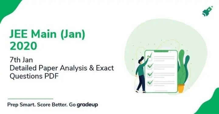 JEE Main Paper Analysis 2020 (7th Jan): Paper was Easier than Last Year