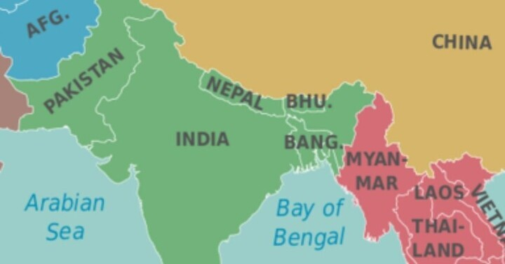Neighboring Countries of India and their Capitals