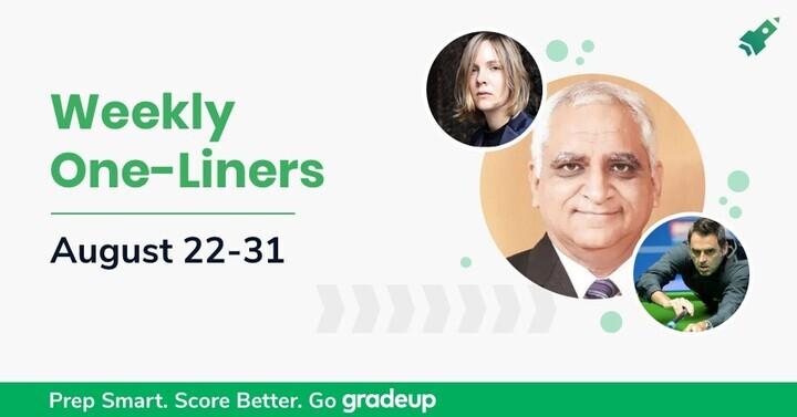 साप्ताहिक वन लाइनर्स अपडेट (22-31) अगस्त 2020: अभी डाउनलोड करें