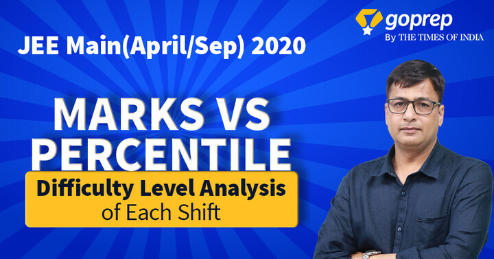 JEE Main Percentile vs Marks 2020 | Calculate Percentile Score