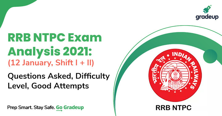 RRB NTPC Exam Analysis 12th January 2021 (All Shifts): Exam Review, Questions, Difficulty Level