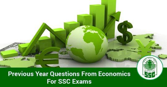 Previous Year Questions from Economics For SSC Exams Part-I