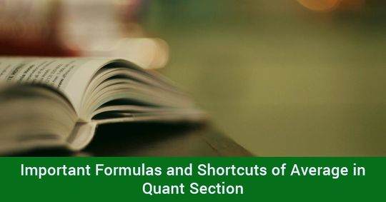 Important Formulas and Shortcuts of Average in Quant Section