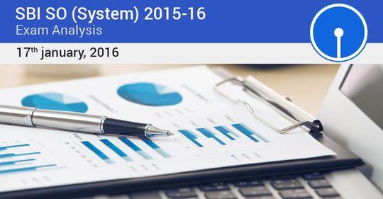 SBI SO Exam Analysis – Jan 17, 2016