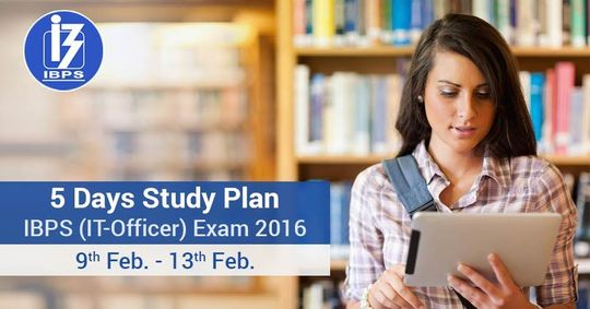5 Day Study plan for IBPS (SO) - IT Officer